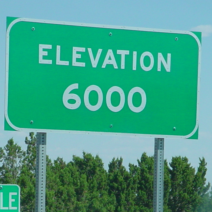 6000 foot sign